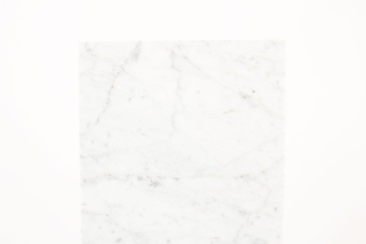 Console en laiton et plateau en marbre de Carrare 1950