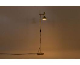 Lampadaire en laiton diffuseur réglable 1950
