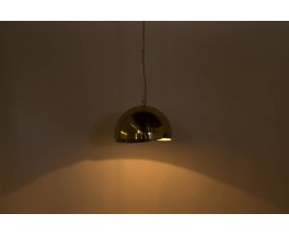 Grande suspension modele Boule en laiton ajustable 1950