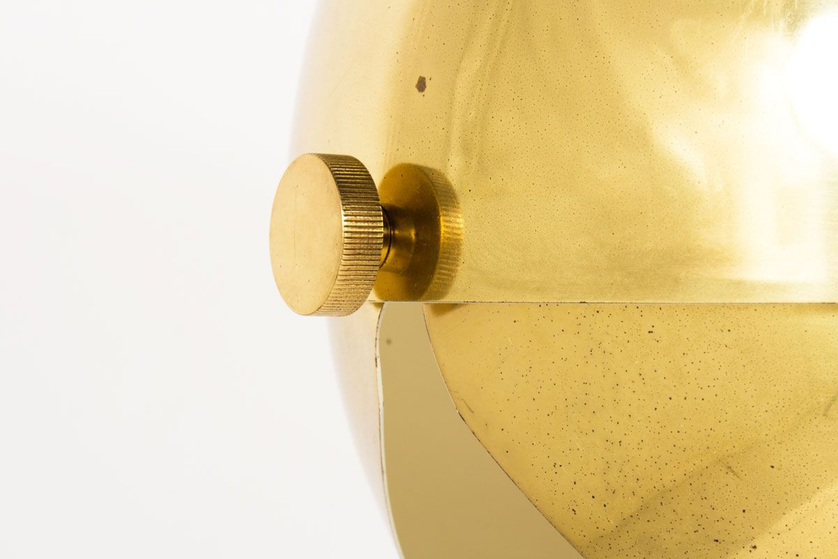 Grande suspension modele Boule en laiton ajustable 1950