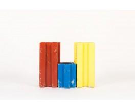 Jardiniere Willy Guhl modele Puzzle edition Eternit 1950 set de 3