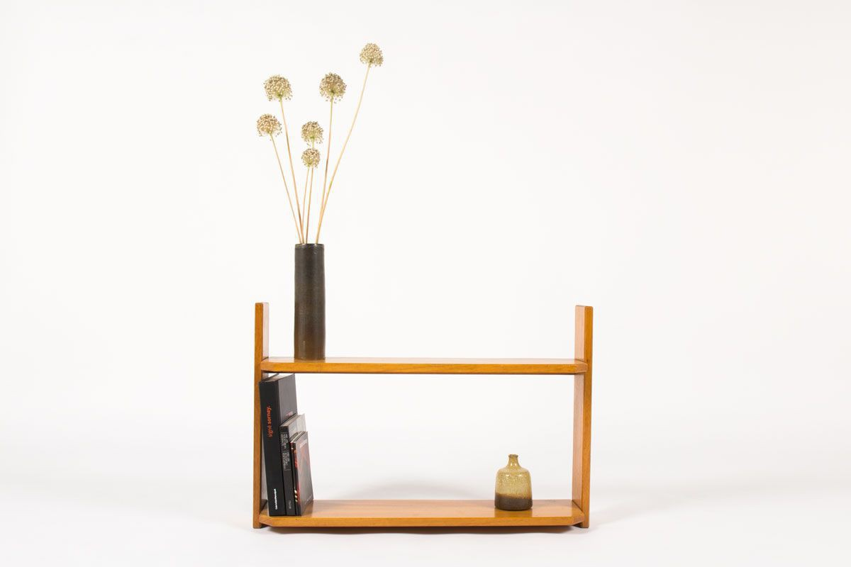 Etagere Andre Sornay acajou blond 1960