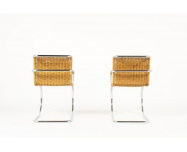 Fauteuils Ludwig Mies van der Rohe modele MR20 edition Knoll International 1980 set de 2