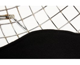 Fauteuils Harry Bertoia modele Diamond Kvadrat noir edition Knoll International 1950 set de 2