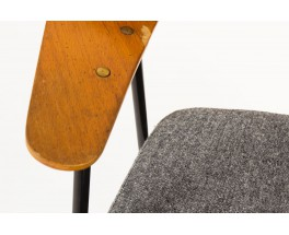 Fauteuil Robin Day modele 675 tissu gris edition Airborne 1952