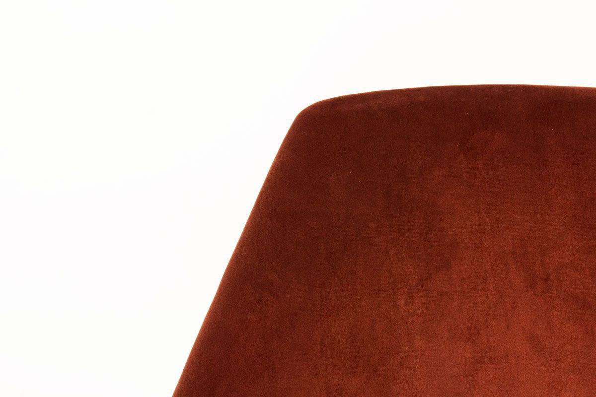 Chaises Carlo Pagani modele Campanula velours ocre edition Arflex 1950 set de 2