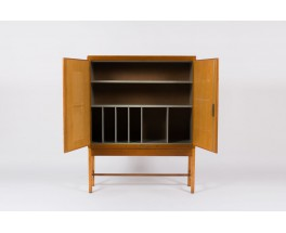 Meuble haut bibliothèque Borge Mogensen en pin d'Oregon et sycomore édition Karl Andersson & Soner 1960