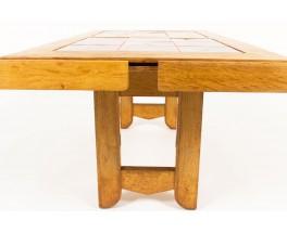 Table basse Guillerme et Chambron en chêne céramique Boleslaw Danikowski édition Votre Maison 1950