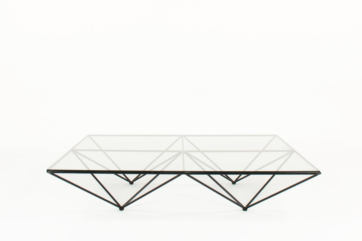 Paolo Piva square coffee table model Alanda edition BB Italia 1970