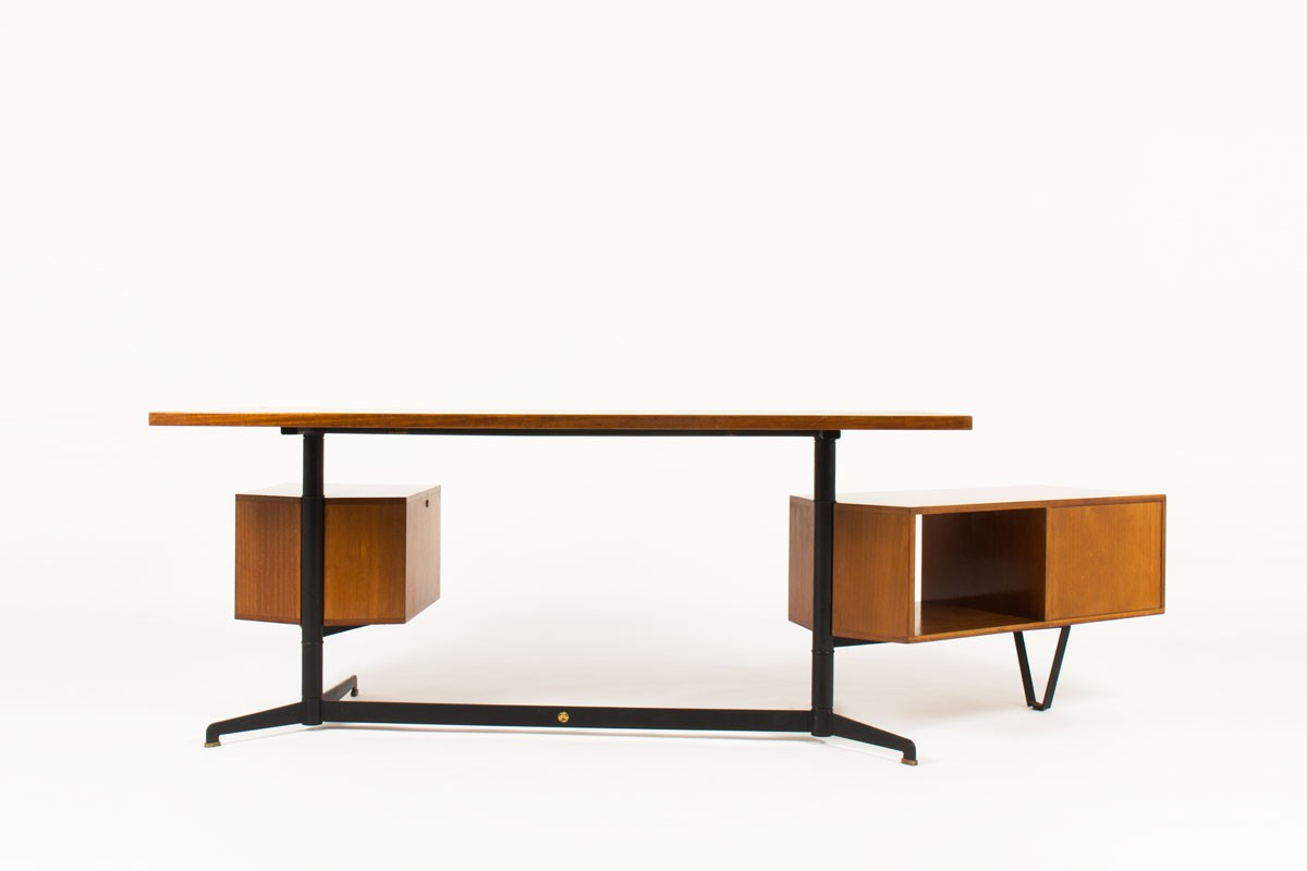 Bureau Osvaldo Borsani modèle T95 de direction édition Tecno 1950