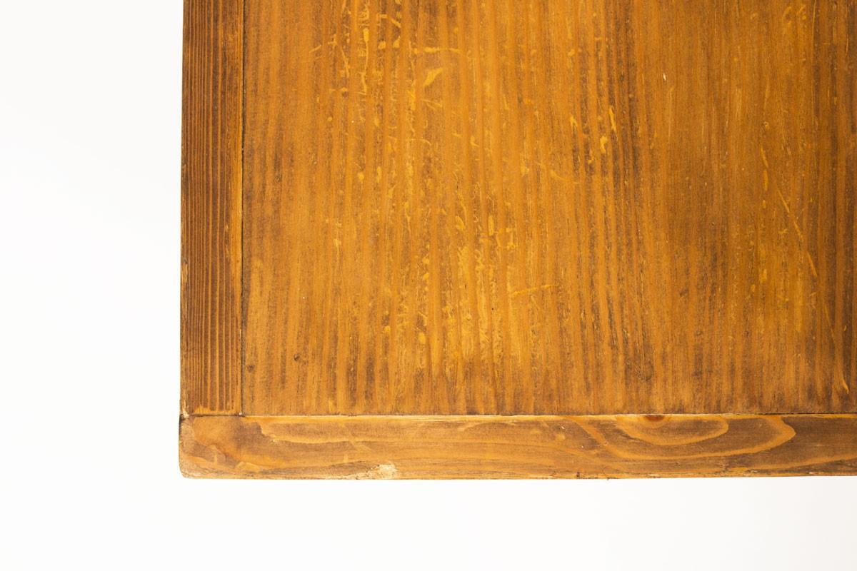 Banquette Charlotte Perriand en pin et tissu beige Les Arcs 1960