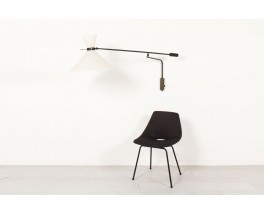 Large wall lamp with counterweight diabolo lampshade edition Lunel 1950