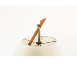 JT Kalmar floor lamp modèle Dornstab in brass and pleated silk lampshade