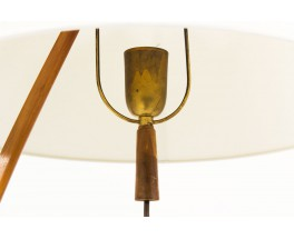 JT Kalmar floor lamp modèle Dornstab in brass and pleated silk lampshade