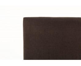 Fauteuils lin marron et hêtre teinté 1950 set de 2
