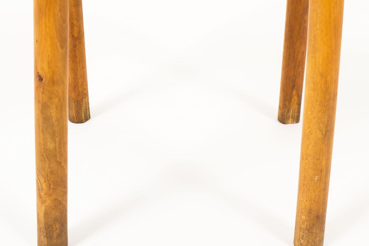 Pierre Gauthier Delaye chairs in pine model Grain de Café 1960 set of 6