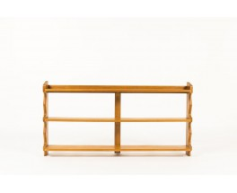Guillerme and Chambron shelving unit in oak edition Votre Maison 1950