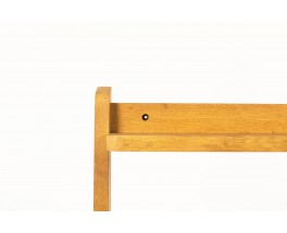 Console table Guillerme and Chambron in solid oak and green ceramic edited by Votre Maison 1950