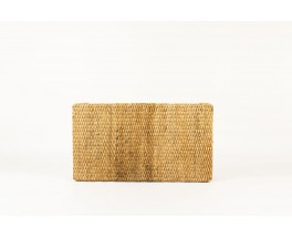 Rectangulaire coffee table in large natural rope 1950