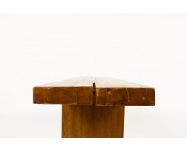 Console in sold elm brutalist design 1950