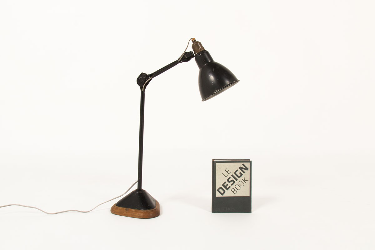 Bernard Albin Gras desk lamp 206 model by Ravel Clamart 1921