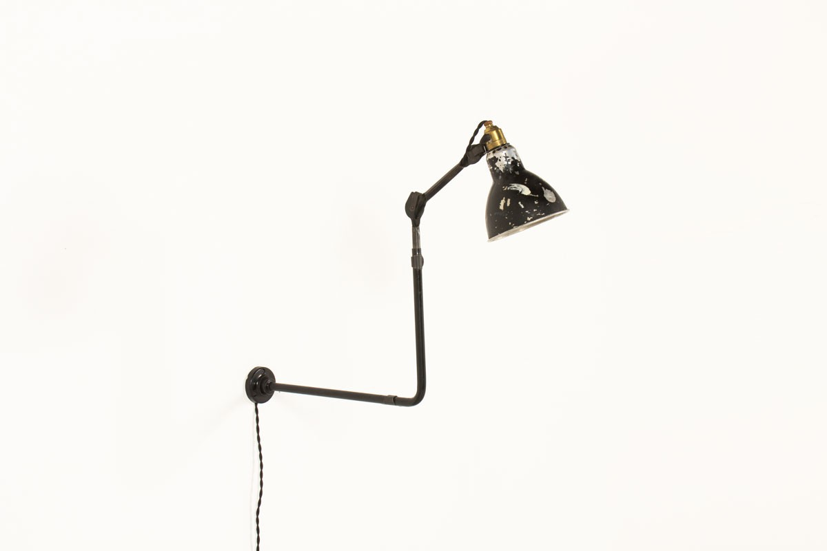 Bernard Albin Gras wall lamp 310 model by Ravel CLamart 1930