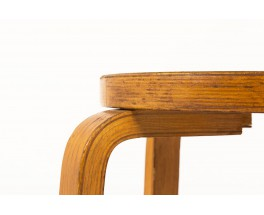 Tabourets Alvar Aalto modèle E60 édition Artek 1930 set de 2