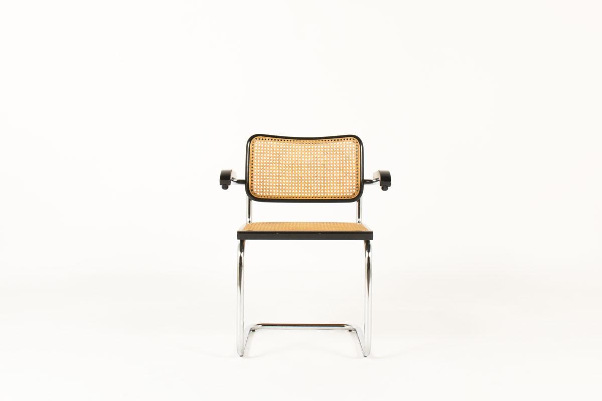 Fauteuils Marcel Breuer modèle Cesca B64 édition Thonet set de 6