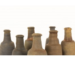 Vases bottle-shaped in a stone 1950 set of 7