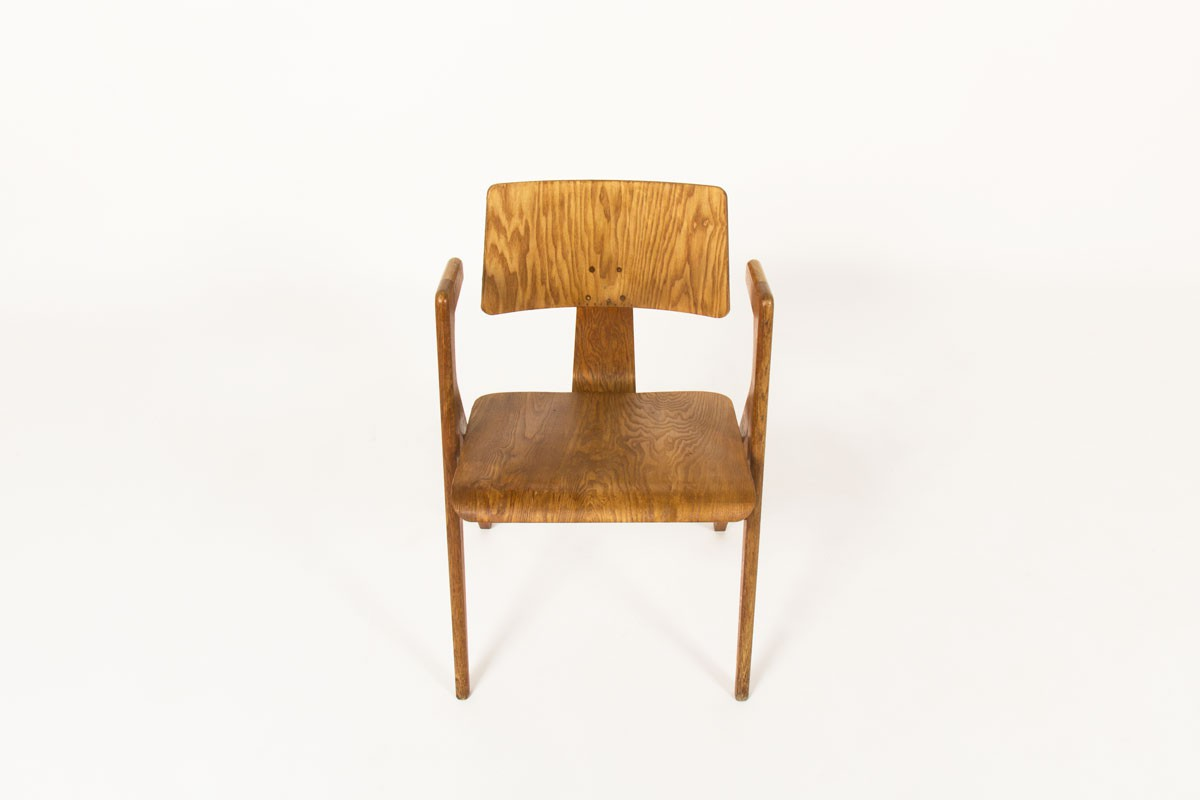 Robin Day armchair model Hillestak oak edition Hille 1950