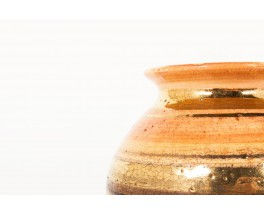 Georges Pelletier ceramic vase brown and gold 1970