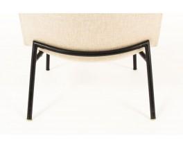 Pierre Guariche armchairs model SK660 in beige fabric edition Steiner 1950 set of 2