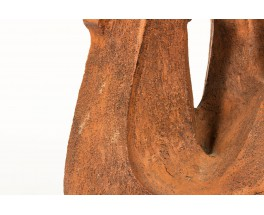 Brown sandstone sculpture design free form 1950