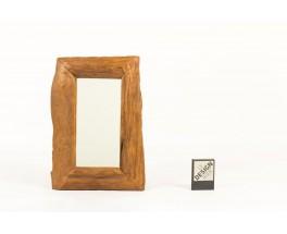 Rectangular mirror walnut frame 1950