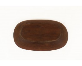Oval dish large model in teak Scandinavian design 1950