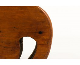 Stool model Elephant in stained pine Danish design 1950