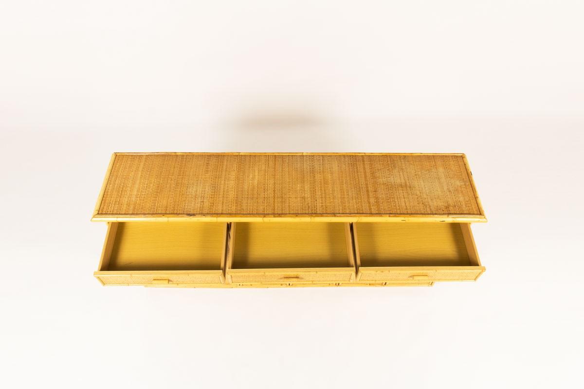 Sideboard in rattan 1950
