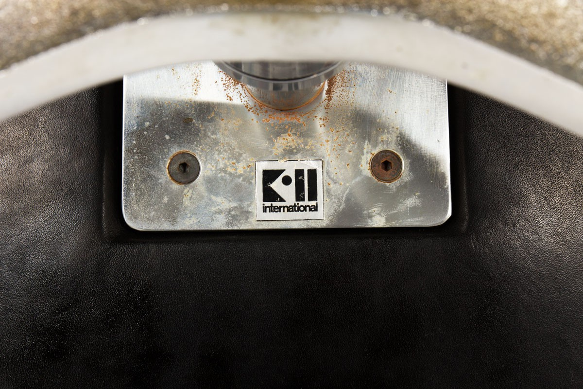Fauteuil de bureau Preben Fabricius et Jorge Kastholm modèle 6725 édition Kill International 1960