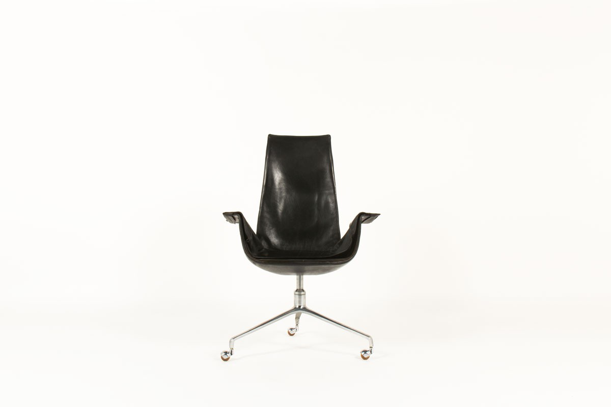 Preben Fabricius and Jorge Kastholm office armchair model 6725 edition Kill International 1960