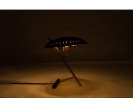 Louis Kalff lamp Z model in brass and black metal by Philips 1950