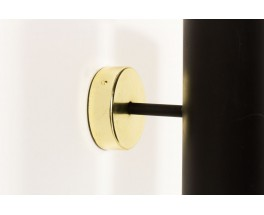 Wall lamp in black metal and gold aluminum edition Parscot 1950