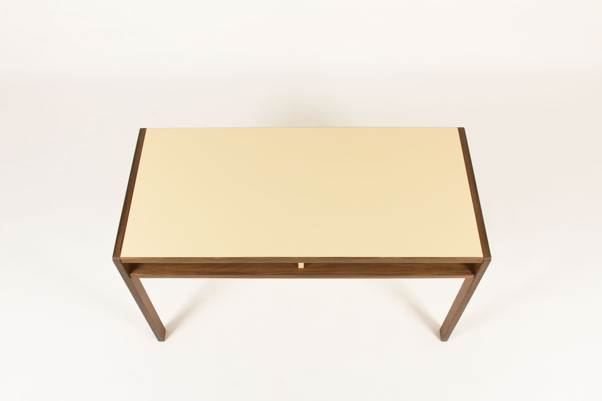 Andre Sornay desk beech and laminate top from origin 1960