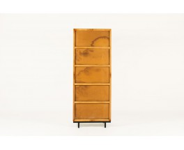 Andre Sornay pantry in mahogany and white lacquer 1960