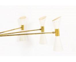 Chandelier in brass and diabolo diffusers Italian contemporary design