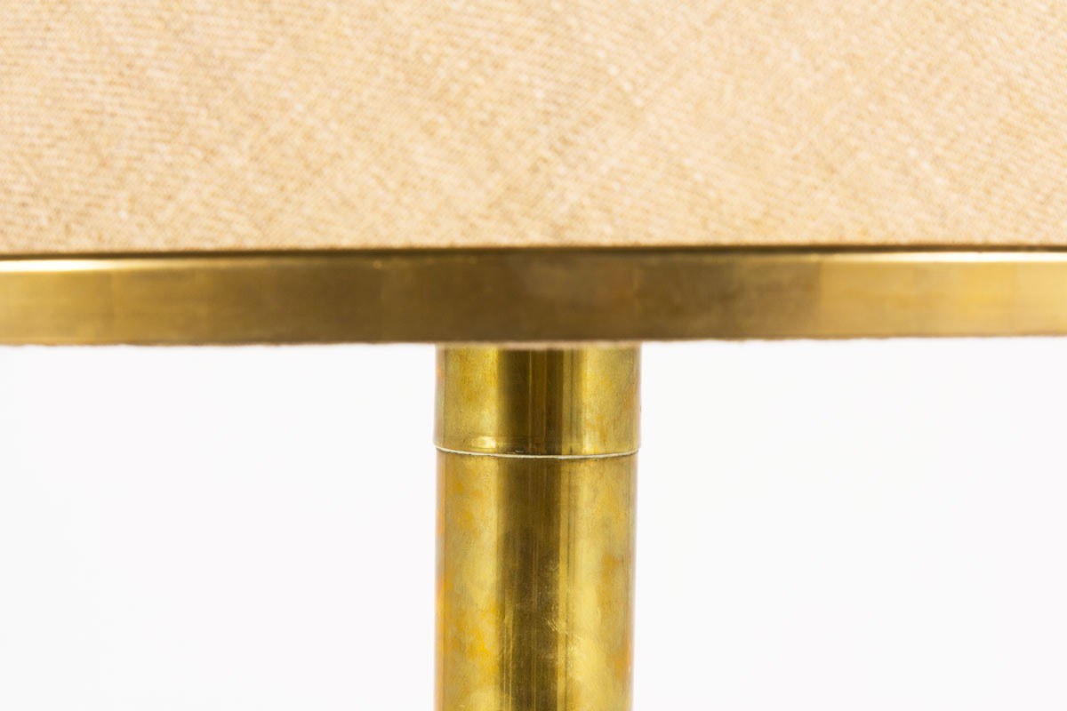 Ferdinando Loffredo floor lamp in brass with jute lampshade 1970