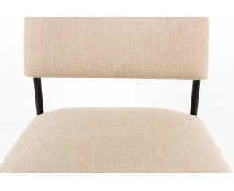 Joseph Andre Motte chairs model 764 grey beige linen edition Steiner 1950 set of 10