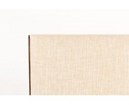 Chaises Maurice Pré en hêtre teinté et tissu beige 1950 set de 8