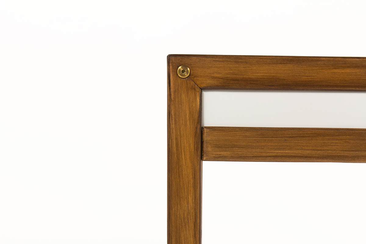 Andre Sornay console table in tinted beech and lacquer 1960