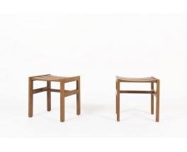 Andre Sornay stools in tinted beech 1960 set of 2