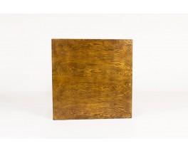 Table basse André Sornay carrée en chêne clouté 1930